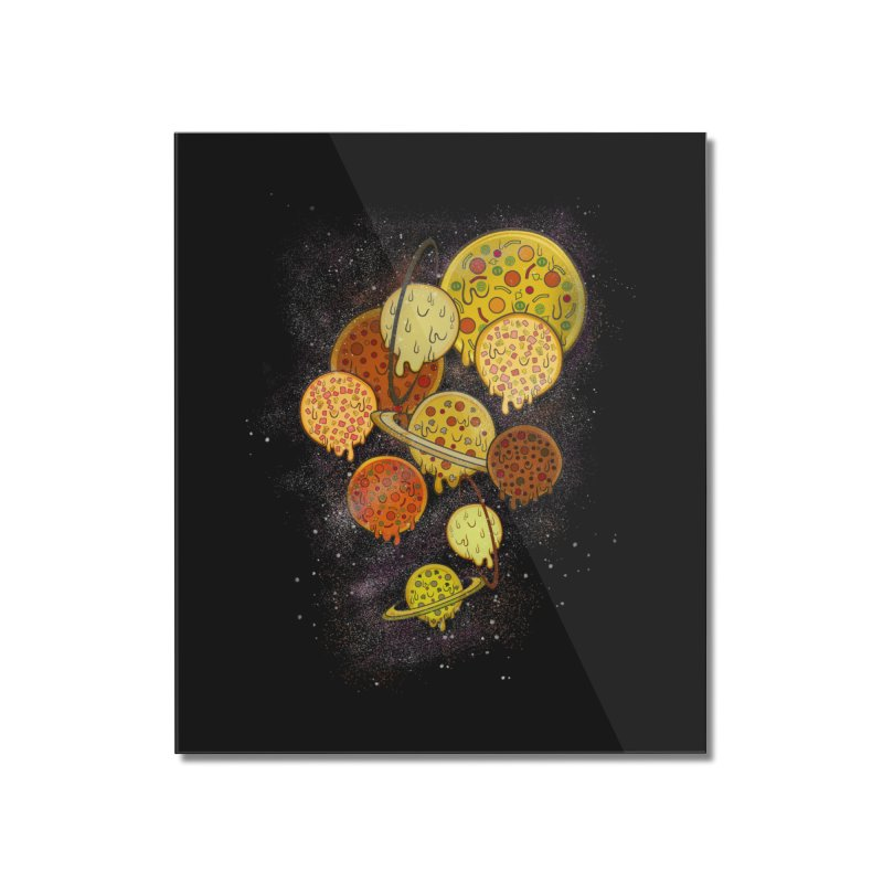 THE PLANETS OF PIZZA Home Mounted Acrylic Print by chevsy's Artist Shop