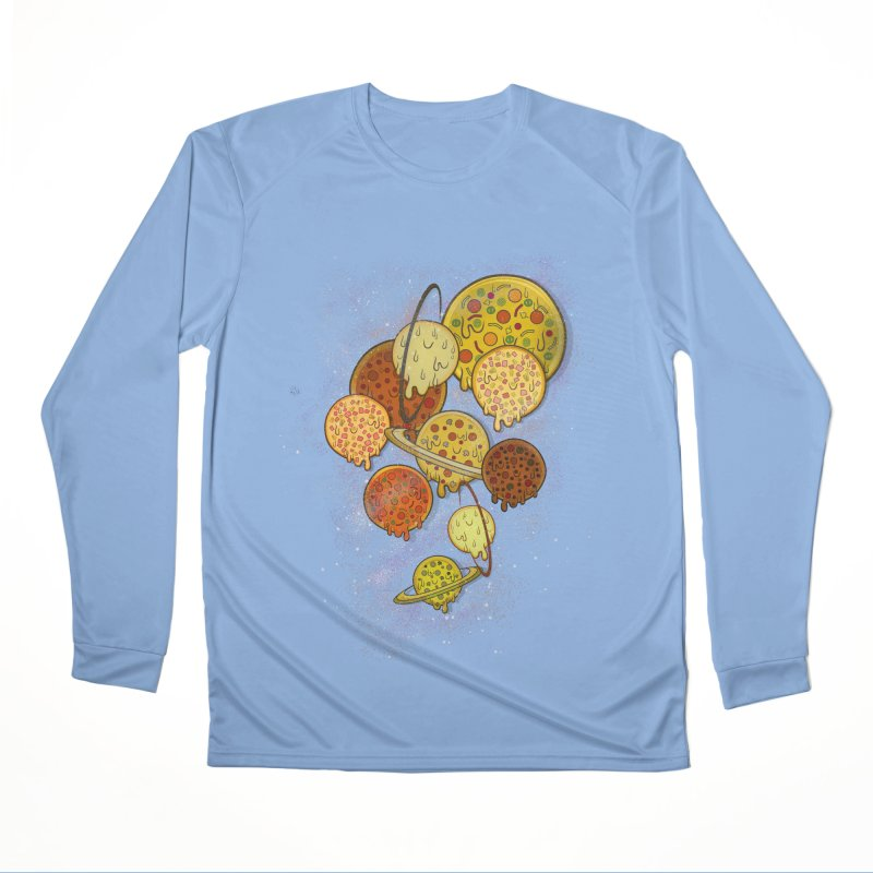 THE PLANETS OF PIZZA Men's Longsleeve T-Shirt by chevsy's Artist Shop