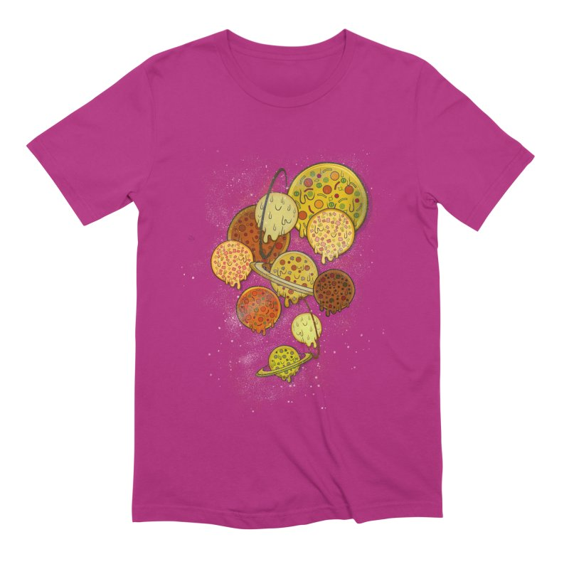 THE PLANETS OF PIZZA Men's Extra Soft T-Shirt by chevsy's Artist Shop