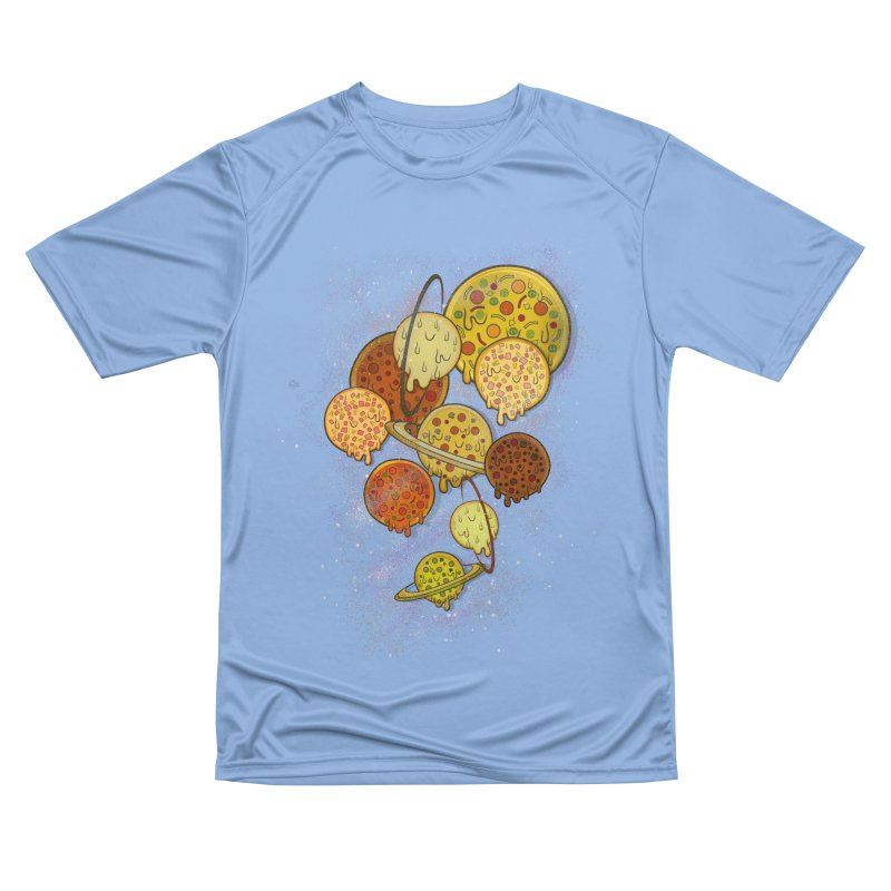 THE PLANETS OF PIZZA Women's Performance Unisex T-Shirt by chevsy's Artist Shop