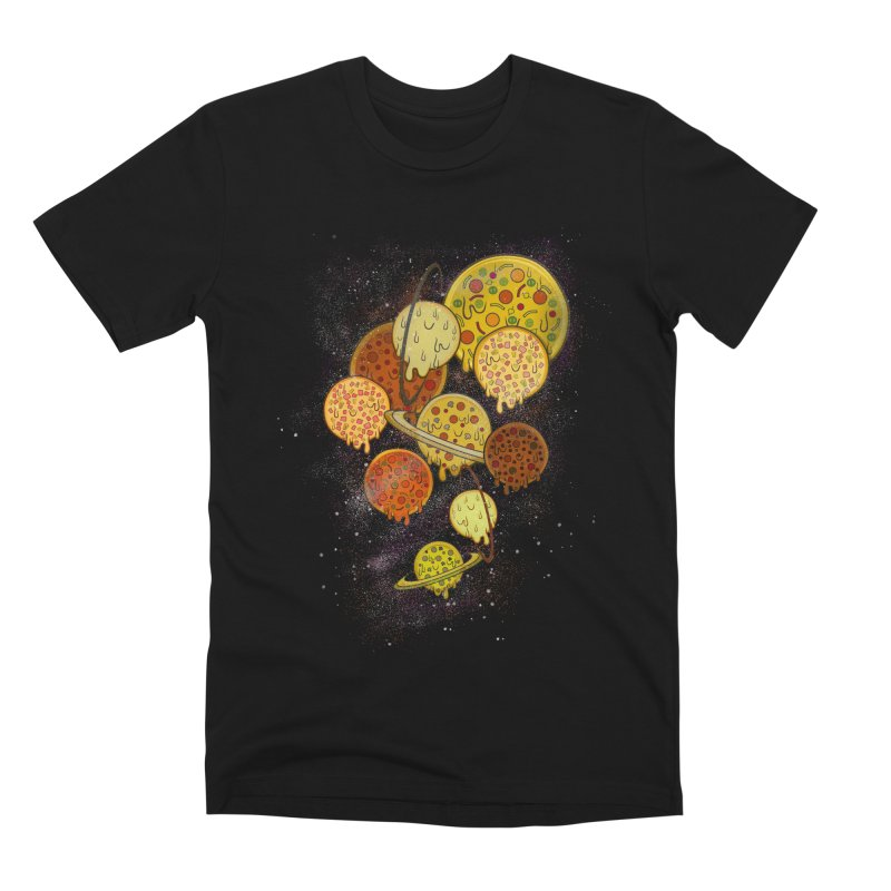 THE PLANETS OF PIZZA Men's Premium T-Shirt by chevsy's Artist Shop