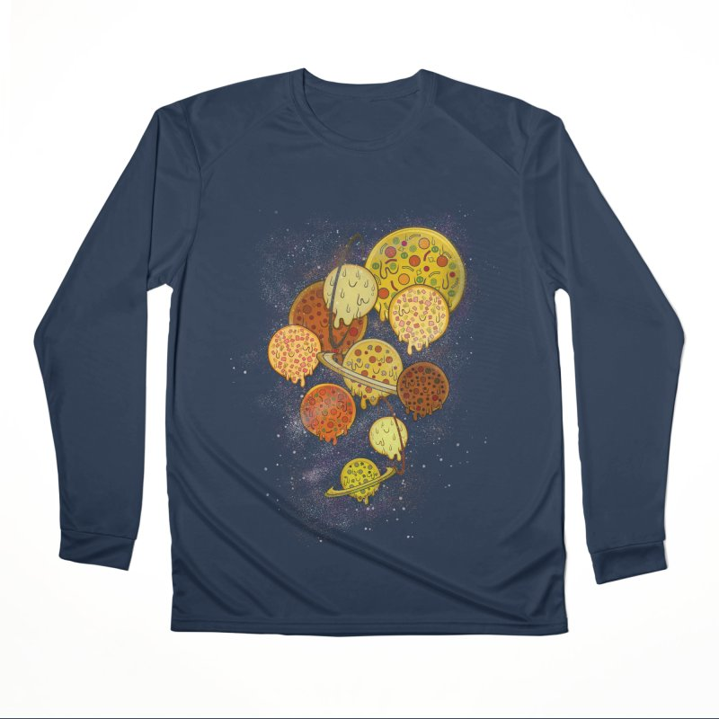 THE PLANETS OF PIZZA Women's Performance Unisex Longsleeve T-Shirt by chevsy's Artist Shop