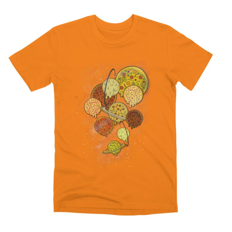 THE PLANETS OF PIZZA Men's T-Shirt by chevsy's Artist Shop