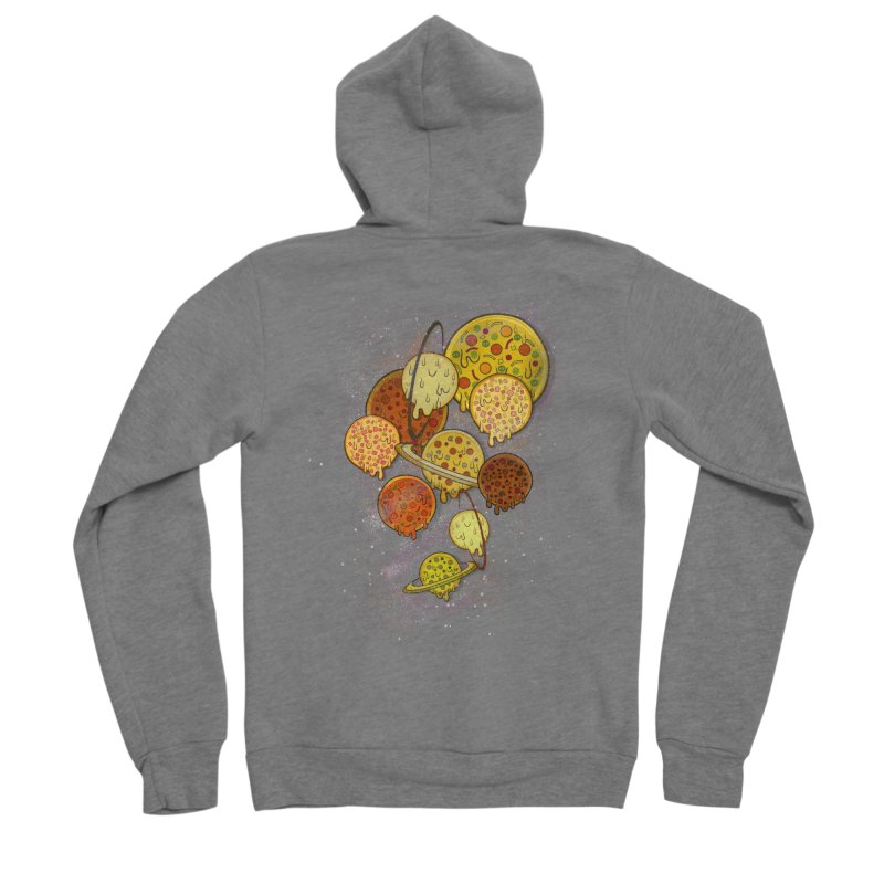 THE PLANETS OF PIZZA Men's Sponge Fleece Zip-Up Hoody by chevsy's Artist Shop