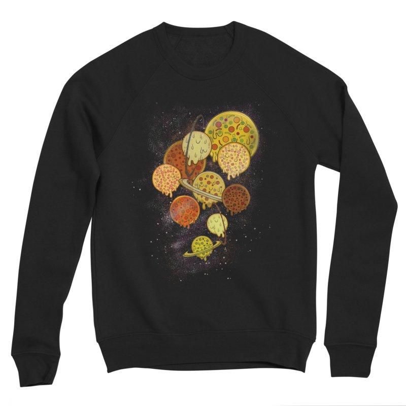 THE PLANETS OF PIZZA Women's Sponge Fleece Sweatshirt by chevsy's Artist Shop