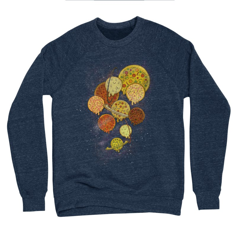 THE PLANETS OF PIZZA Men's Sponge Fleece Sweatshirt by chevsy's Artist Shop