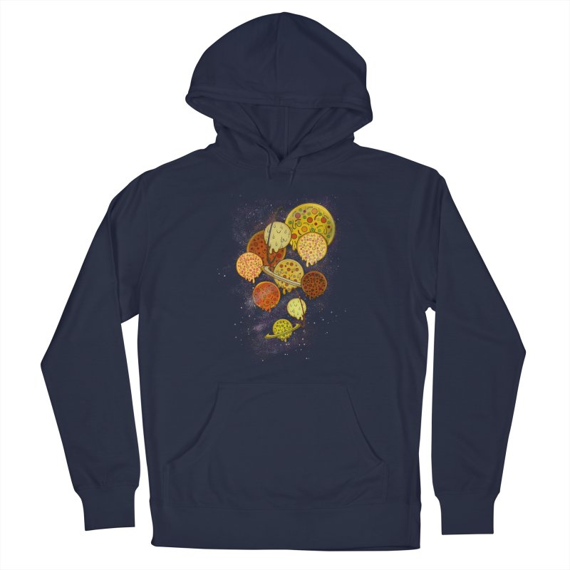 THE PLANETS OF PIZZA Men's Pullover Hoody by chevsy's Artist Shop