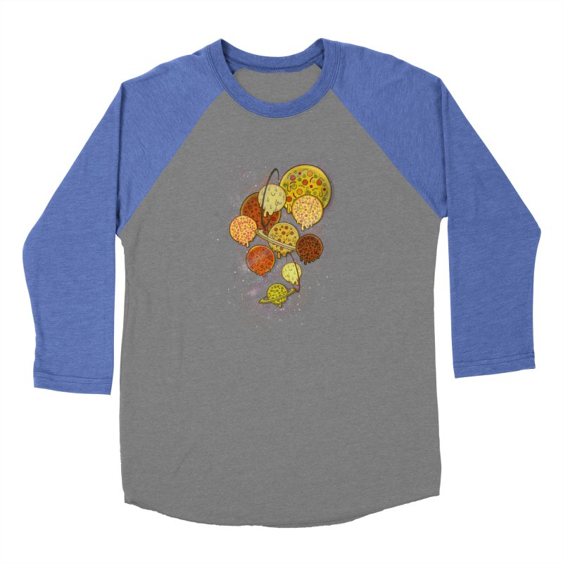 THE PLANETS OF PIZZA Men's Baseball Triblend Longsleeve T-Shirt by chevsy's Artist Shop