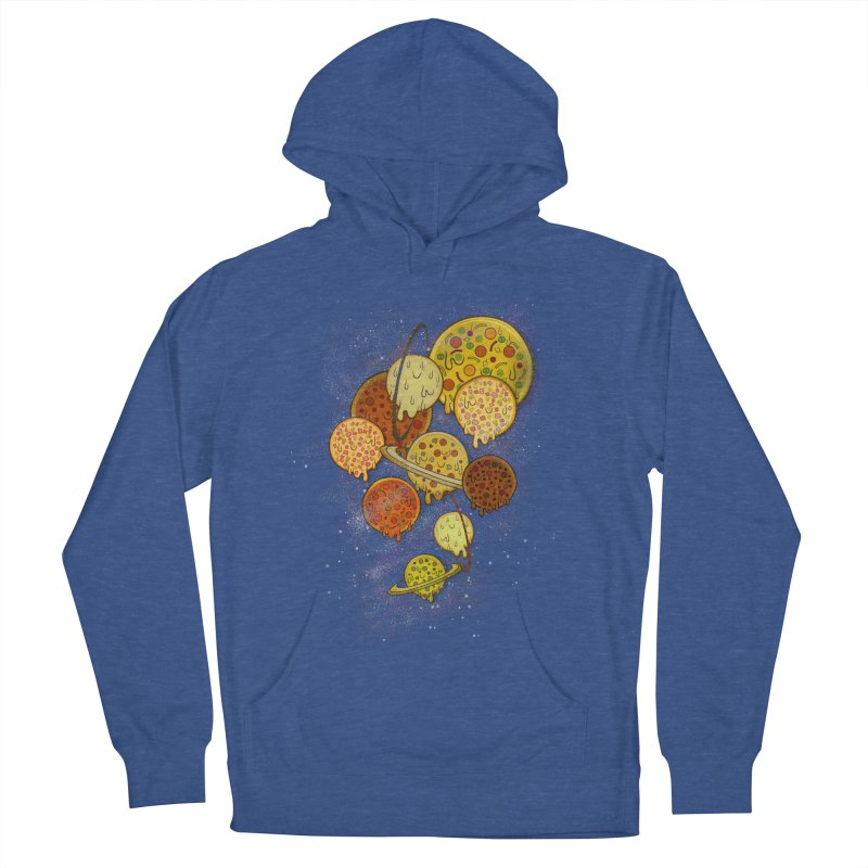 THE PLANETS OF PIZZA Women's French Terry Pullover Hoody by chevsy's Artist Shop