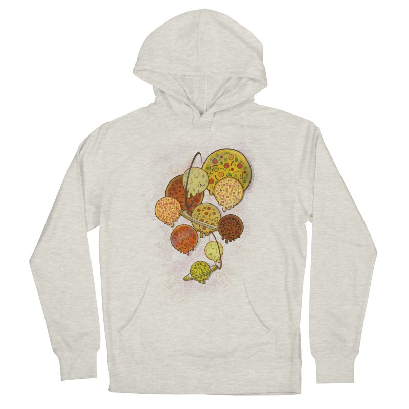 THE PLANETS OF PIZZA Men's French Terry Pullover Hoody by chevsy's Artist Shop