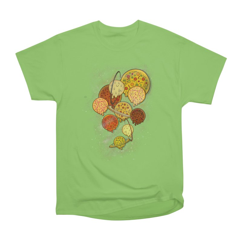 THE PLANETS OF PIZZA Men's Heavyweight T-Shirt by chevsy's Artist Shop
