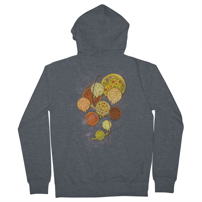 THE PLANETS OF PIZZA Women's French Terry Zip-Up Hoody by chevsy's Artist Shop