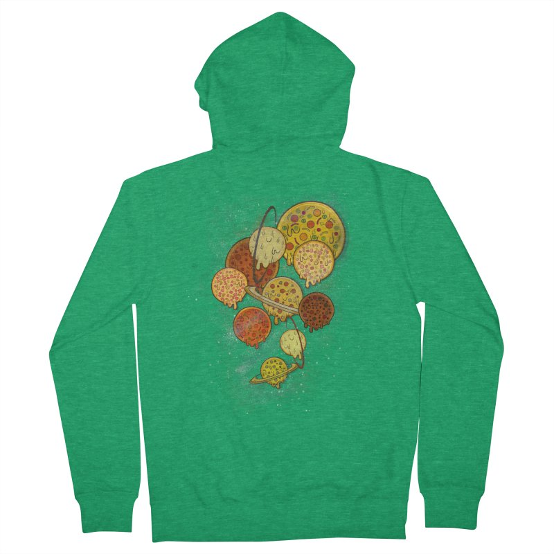 THE PLANETS OF PIZZA Men's French Terry Zip-Up Hoody by chevsy's Artist Shop