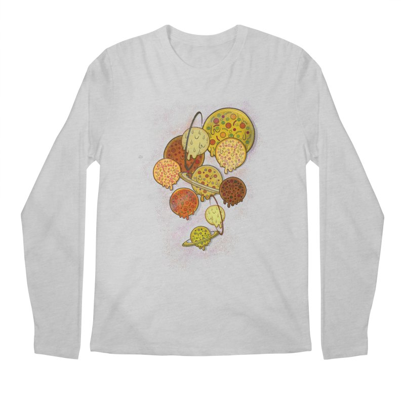 THE PLANETS OF PIZZA Men's Regular Longsleeve T-Shirt by chevsy's Artist Shop