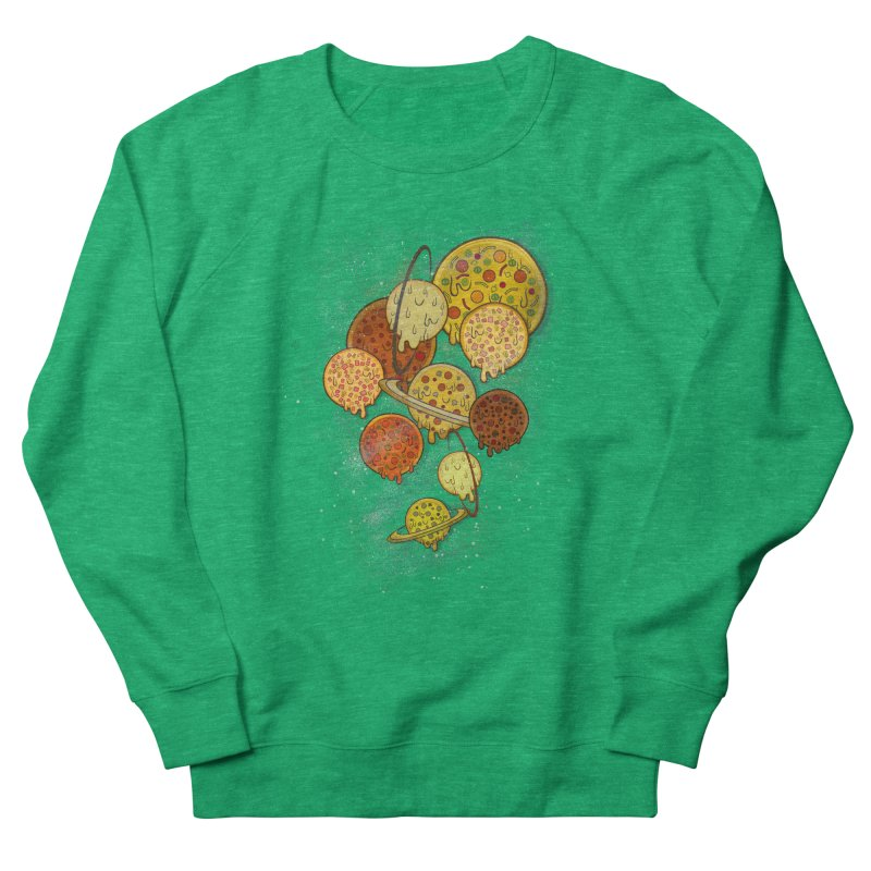 THE PLANETS OF PIZZA Women's Sweatshirt by chevsy's Artist Shop