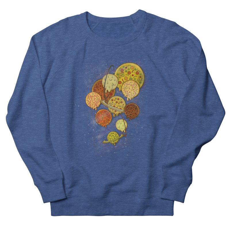 THE PLANETS OF PIZZA Women's French Terry Sweatshirt by chevsy's Artist Shop