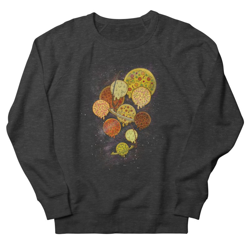 THE PLANETS OF PIZZA Men's French Terry Sweatshirt by chevsy's Artist Shop
