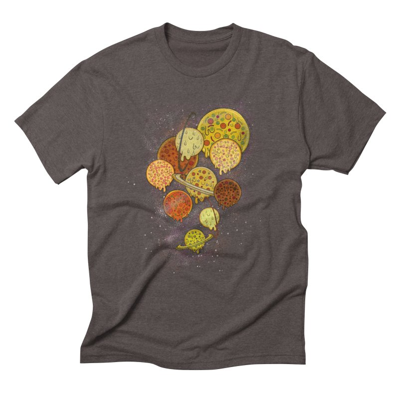 THE PLANETS OF PIZZA Men's Triblend T-Shirt by chevsy's Artist Shop