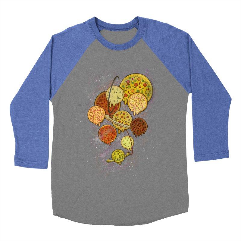 THE PLANETS OF PIZZA Men's Baseball Triblend Longsleeve T-Shirt by chevsy's Artist Shop