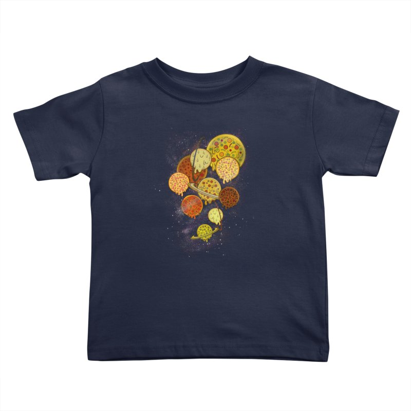 THE PLANETS OF PIZZA Kids Toddler T-Shirt by chevsy's Artist Shop