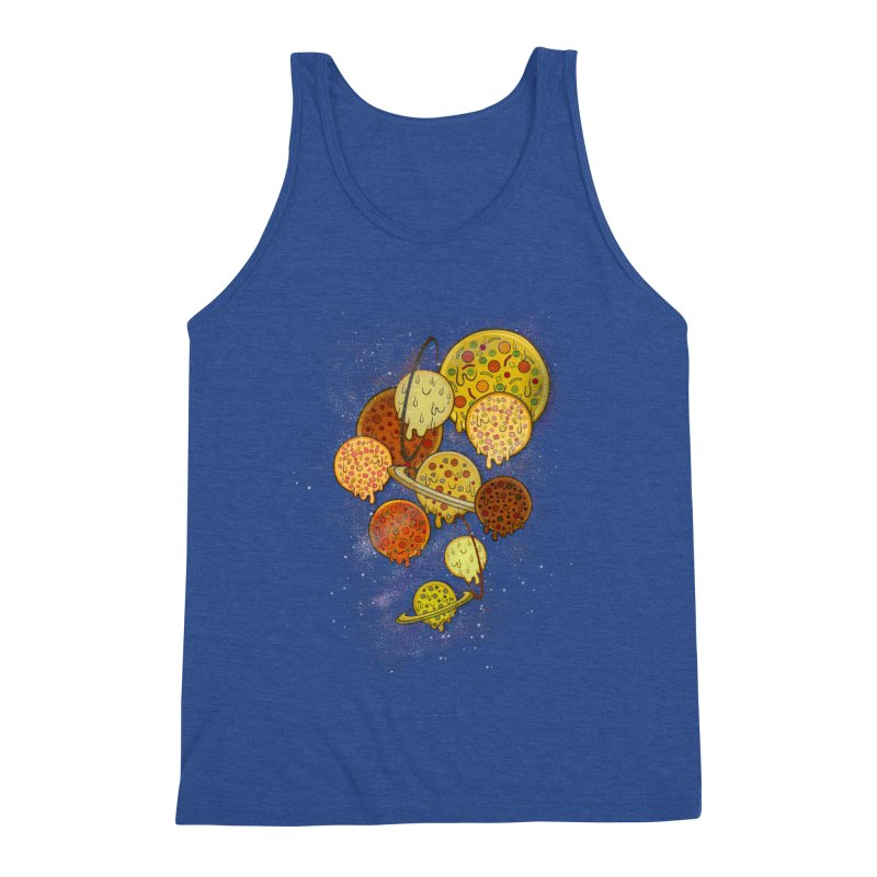 THE PLANETS OF PIZZA Men's Tank by chevsy's Artist Shop