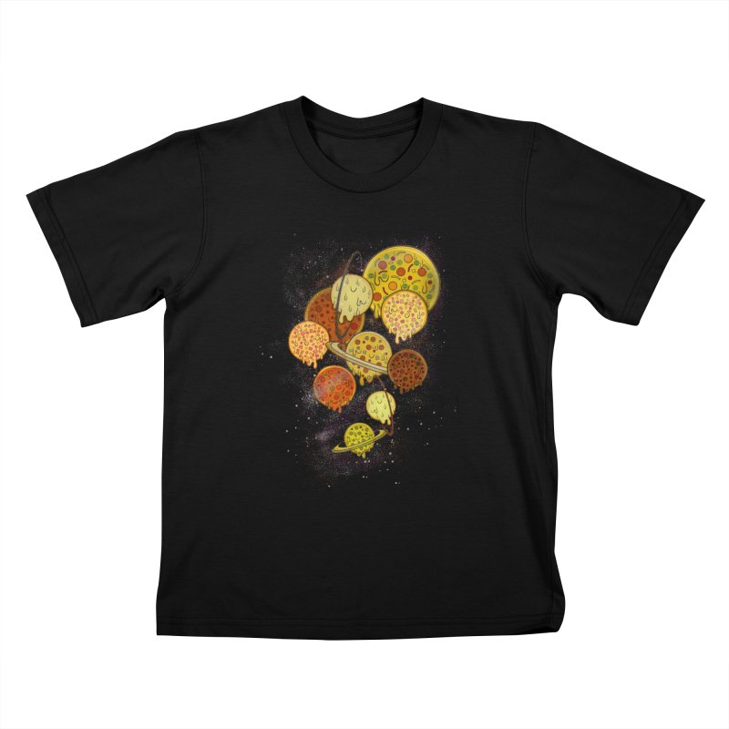 THE PLANETS OF PIZZA Kids T-Shirt by chevsy's Artist Shop