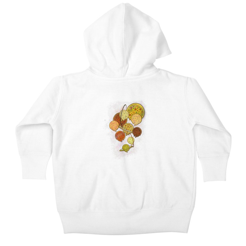 THE PLANETS OF PIZZA Kids Baby Zip-Up Hoody by chevsy's Artist Shop
