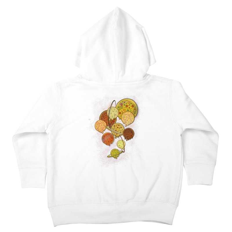 THE PLANETS OF PIZZA Kids Toddler Zip-Up Hoody by chevsy's Artist Shop
