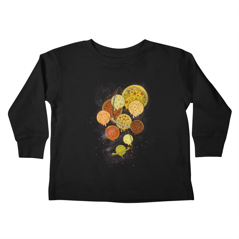 THE PLANETS OF PIZZA Kids Toddler Longsleeve T-Shirt by chevsy's Artist Shop