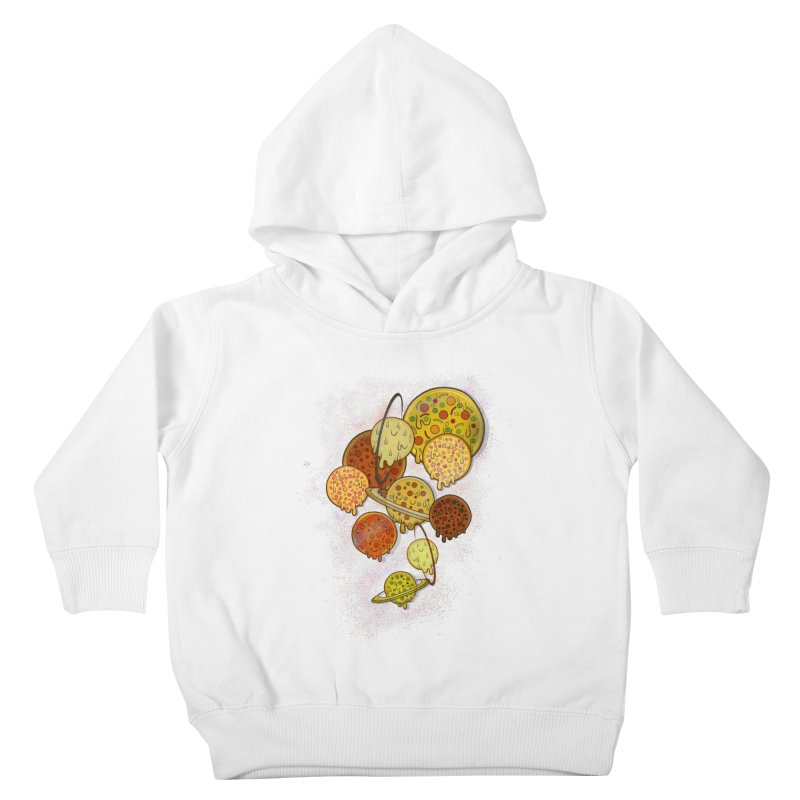 THE PLANETS OF PIZZA Kids Toddler Pullover Hoody by chevsy's Artist Shop