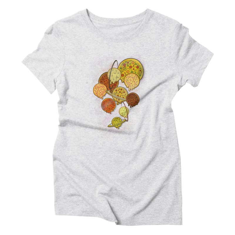 THE PLANETS OF PIZZA Women's Triblend T-Shirt by chevsy's Artist Shop