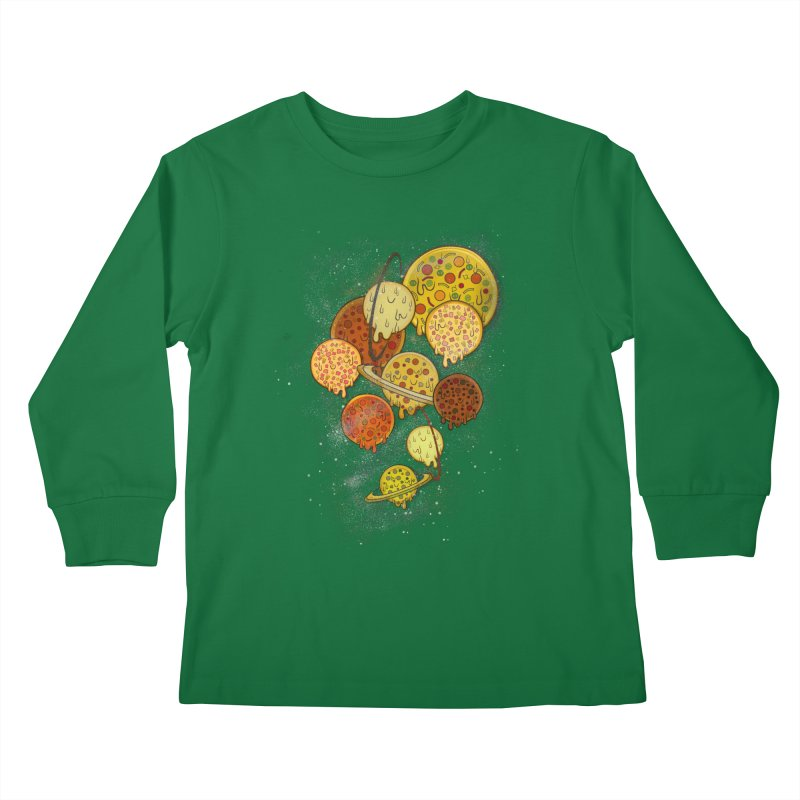 THE PLANETS OF PIZZA Kids Longsleeve T-Shirt by chevsy's Artist Shop