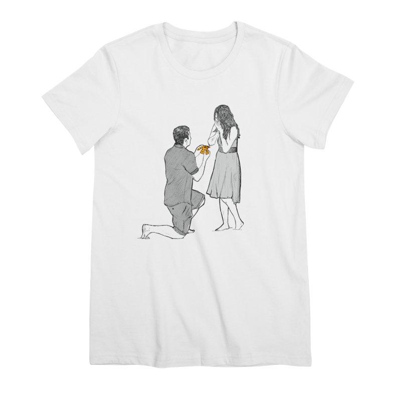 A PIZZA MY HEART Women's Premium T-Shirt by chevsy's Artist Shop