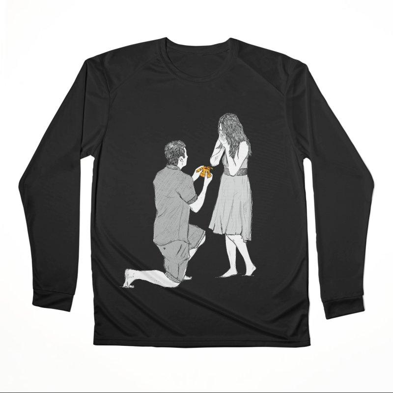 A PIZZA MY HEART Men's Performance Longsleeve T-Shirt by chevsy's Artist Shop