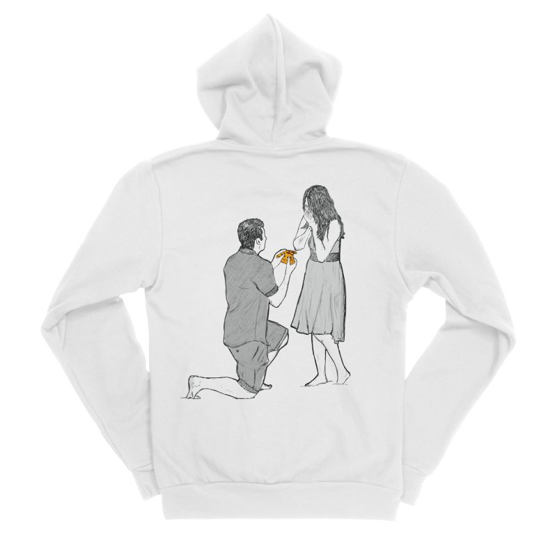 A PIZZA MY HEART Men's Sponge Fleece Zip-Up Hoody by chevsy's Artist Shop