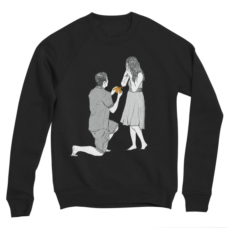 A PIZZA MY HEART Men's Sponge Fleece Sweatshirt by chevsy's Artist Shop