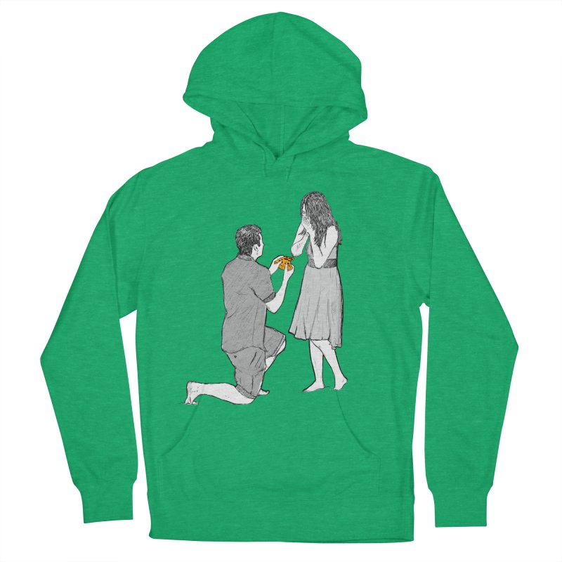 A PIZZA MY HEART Women's French Terry Pullover Hoody by chevsy's Artist Shop