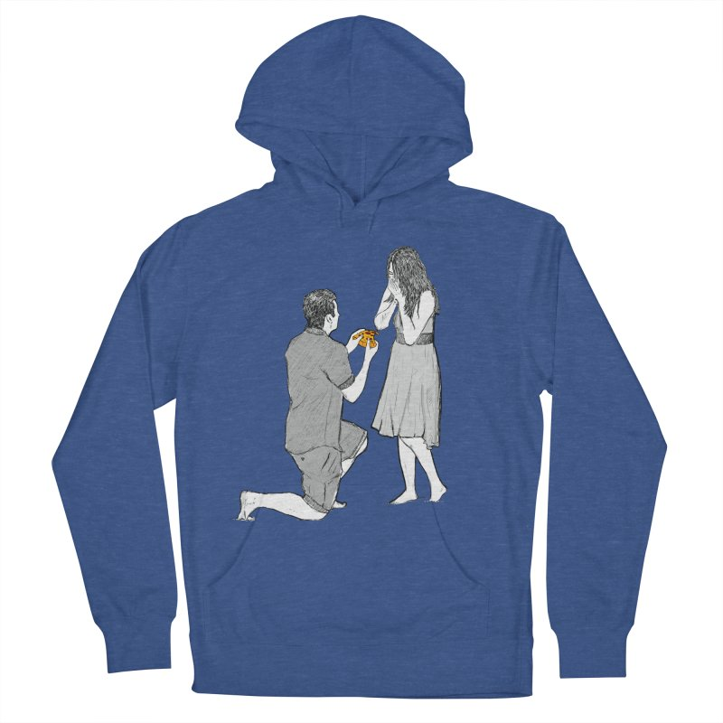 A PIZZA MY HEART Men's French Terry Pullover Hoody by chevsy's Artist Shop