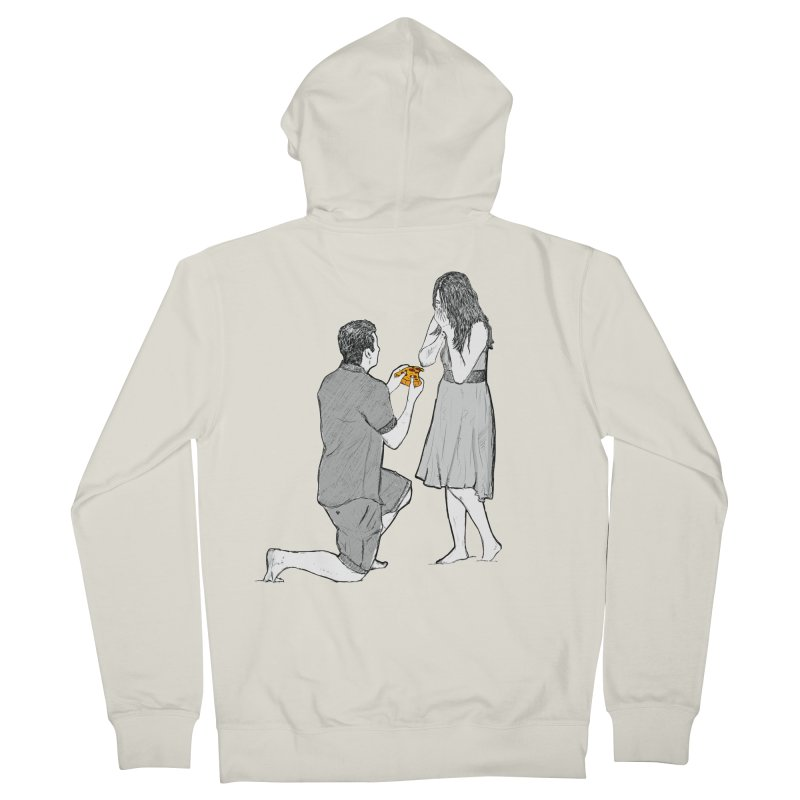 A PIZZA MY HEART Women's French Terry Zip-Up Hoody by chevsy's Artist Shop