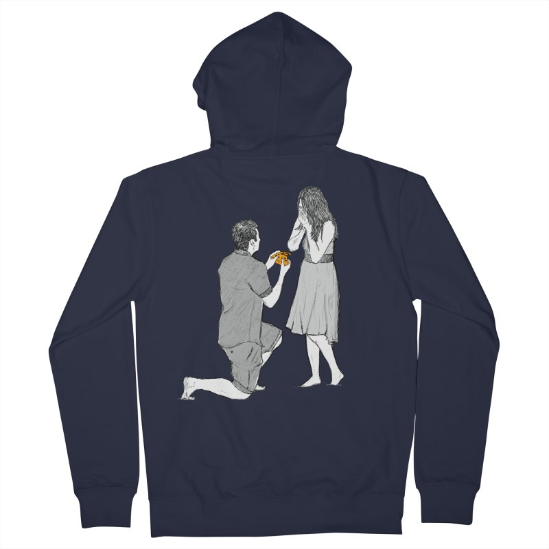 A PIZZA MY HEART Men's French Terry Zip-Up Hoody by chevsy's Artist Shop