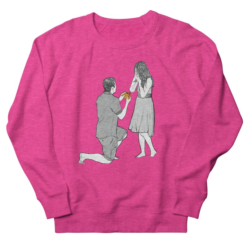 A PIZZA MY HEART Women's French Terry Sweatshirt by chevsy's Artist Shop