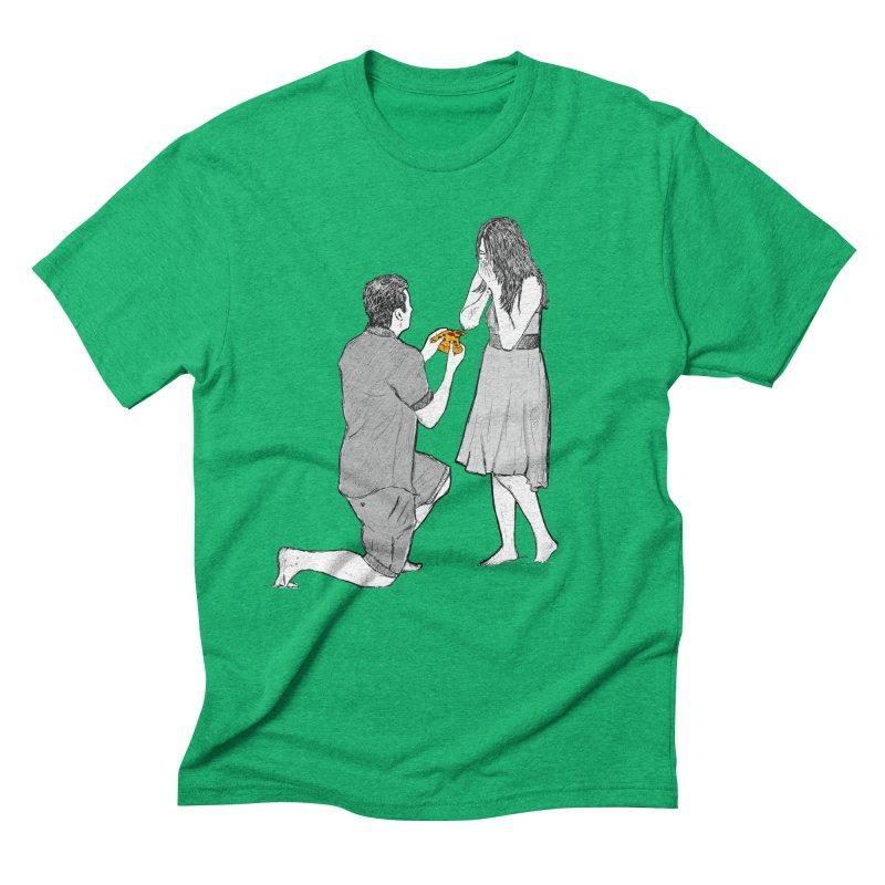 A PIZZA MY HEART Men's Triblend T-Shirt by chevsy's Artist Shop