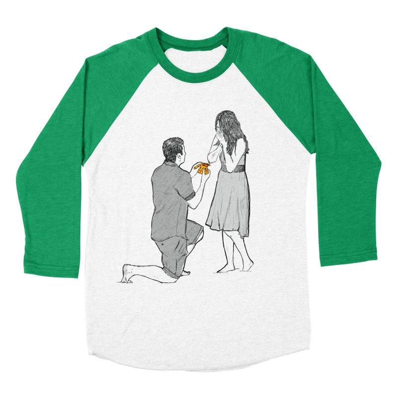 A PIZZA MY HEART Women's Baseball Triblend Longsleeve T-Shirt by chevsy's Artist Shop