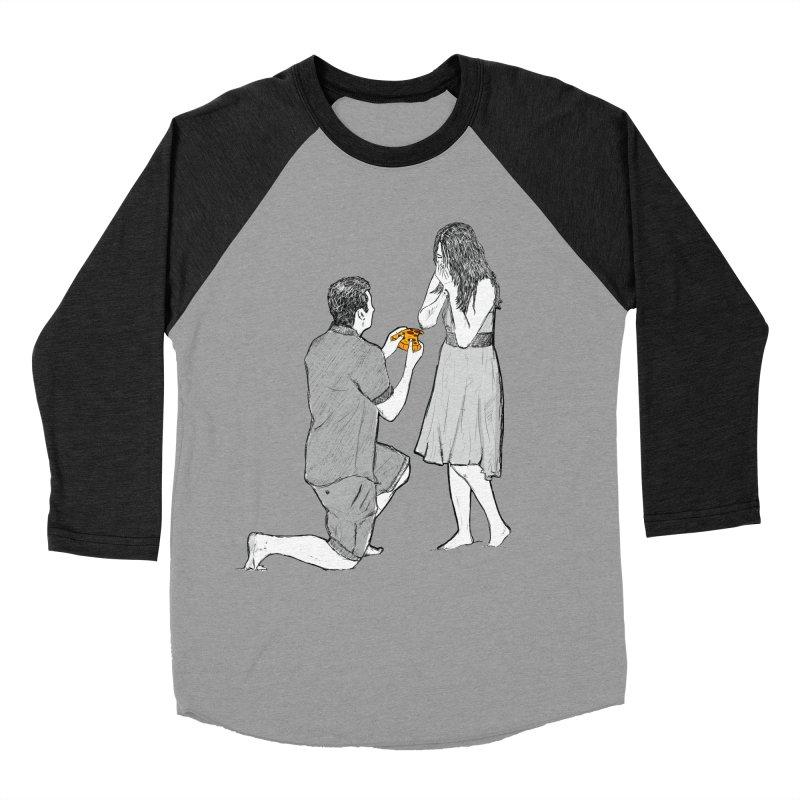 A PIZZA MY HEART Men's Baseball Triblend Longsleeve T-Shirt by chevsy's Artist Shop