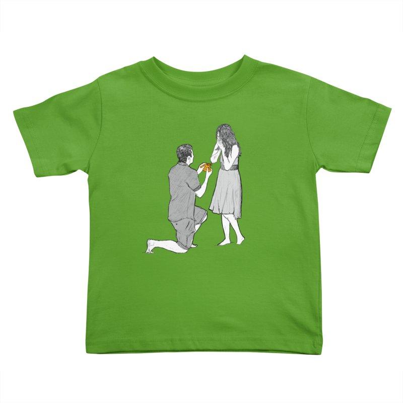 A PIZZA MY HEART Kids Toddler T-Shirt by chevsy's Artist Shop
