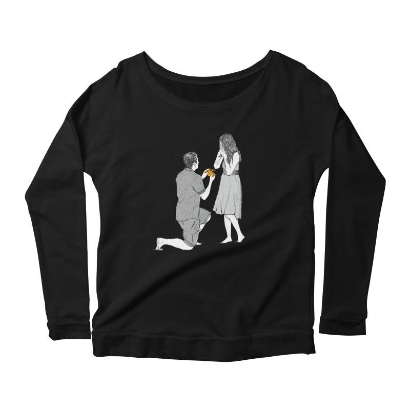 A PIZZA MY HEART Women's Scoop Neck Longsleeve T-Shirt by chevsy's Artist Shop