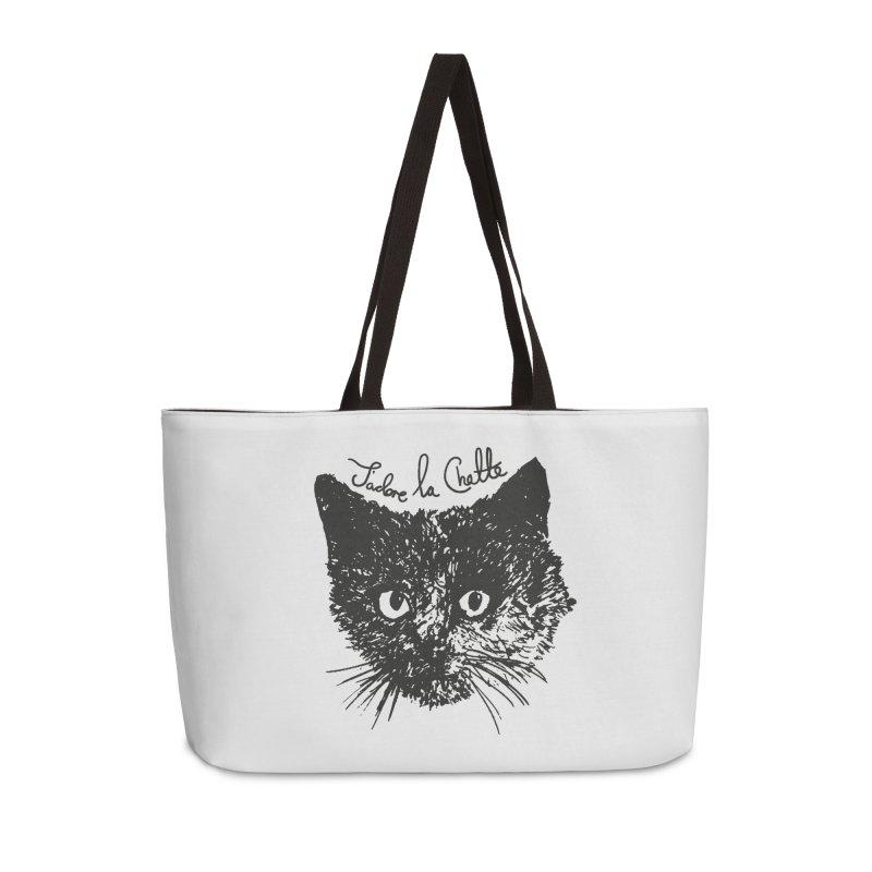 J'adore La Chatte Accessories Weekender Bag Bag by chevsy's Artist Shop
