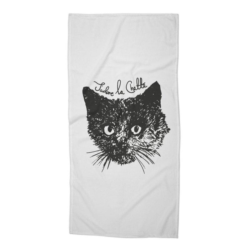 J'adore La Chatte Accessories Beach Towel by chevsy's Artist Shop