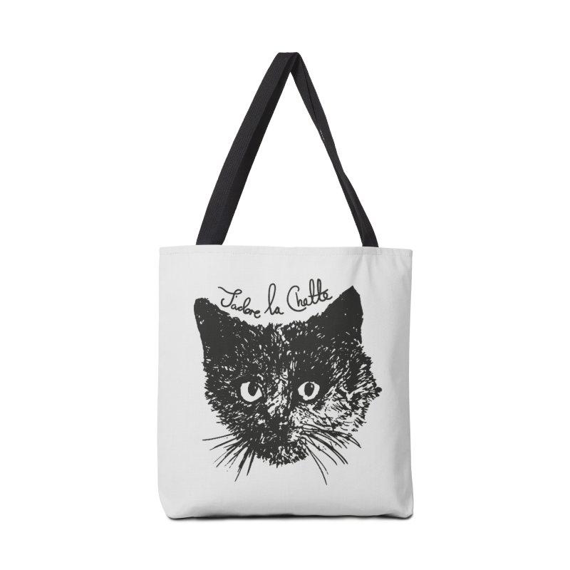 J'adore La Chatte Accessories Tote Bag Bag by chevsy's Artist Shop