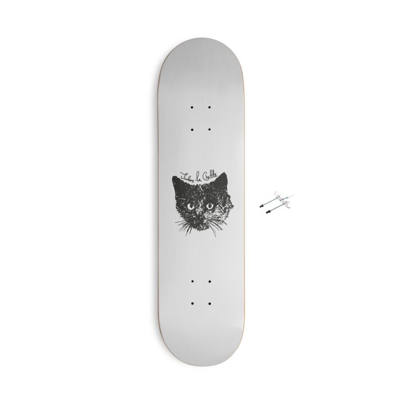 J'adore La Chatte Accessories With Hanging Hardware Skateboard by chevsy's Artist Shop